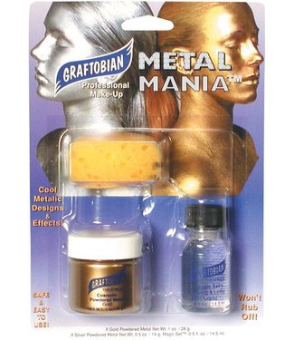 Graftobian Make-Up Company Metal Mania Make-Up Kit (Gold)