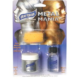 Graftobian Make-Up Company Metal Mania Make-Up Kit (Silver)