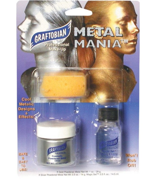 Graftobian Make-Up Company Metal Mania Make-Up Kit (Silver)