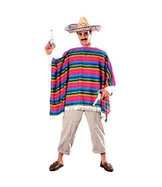 Rubies Costume Company Mexican Serape and Hat - One Size