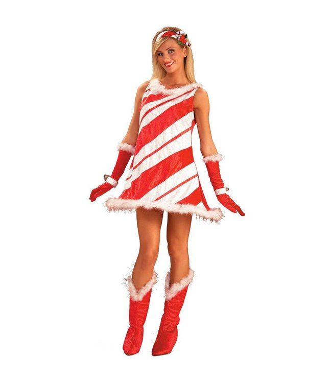 Forum Novelties Miss Candy Cane Adult Size 14-16