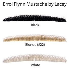 Morris Costumes and Lacey Fashions Moustache - Errol Flynn, Black