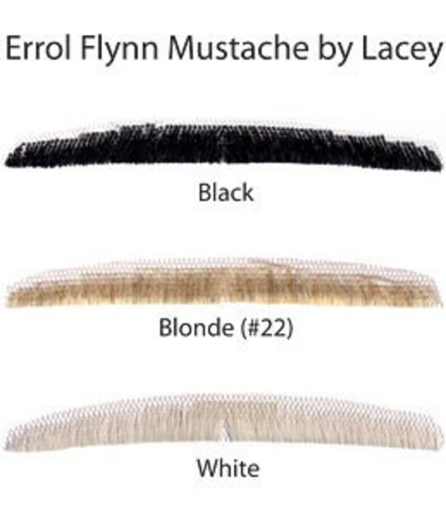 Morris Costumes and Lacey Fashions Moustache - Errol Flynn, Black Human Hair