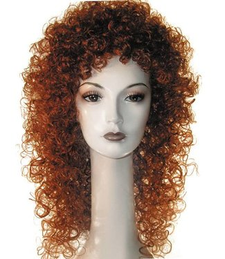 Morris Costumes and Lacey Fashions New Curly Auburn Wig