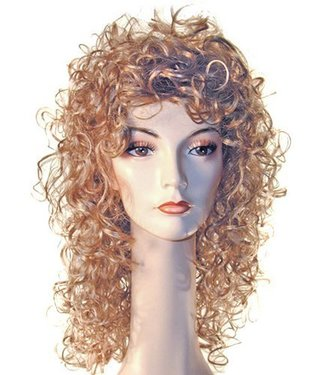 Morris Costumes and Lacey Fashions New Curly Lt. Blonde Wig