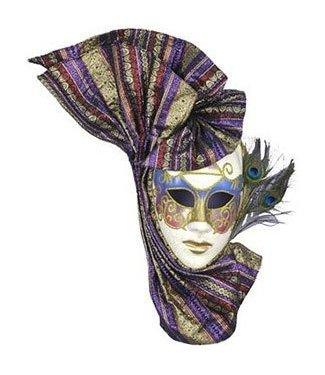 Forum Novelties Venetian Eyemask with Peacock Feathers