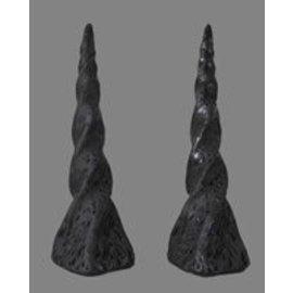 Pans House Of Horns Horns Unicorn, Pair - Black (C2)