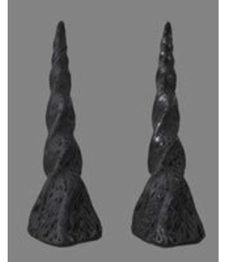 Pans House Of Horns Horns Unicorn, Pair - Black (C2)