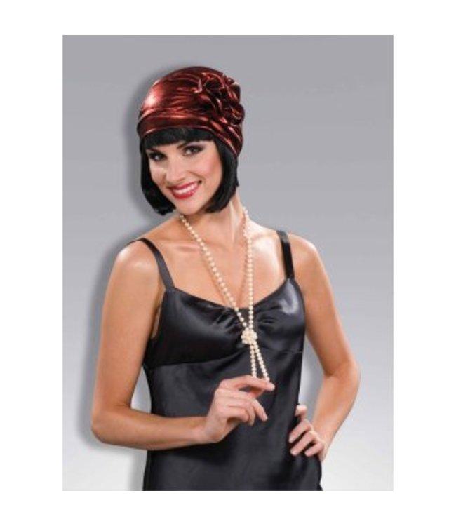 Forum Novelties Red Cloche Flapper Hat