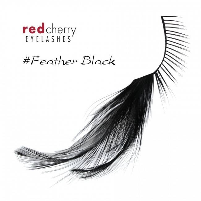 Red Cherry Eyelashes Wfeather Black Fblk Ronjo Magic Costumes