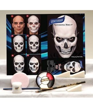 Graftobian Make-Up Company Skull Theatrical Make-Up Kit (C3)