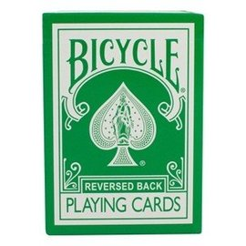 Reversed Back Bicycle Deck - Green, 2nd Generation by Magic Makers