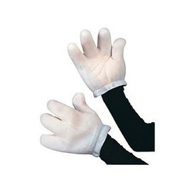 Rubies Costume Company Vinyl Cartoon Animal,Mouse Gloves - Adult
