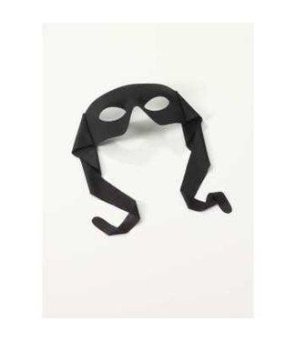 Rubies Costume Company Eye Mask - Masked Man w/Ties Black