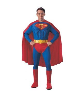 Rubies Costume Company Superman - Deluxe Muscle Chest - Large 42-44
