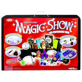 Magic Set 100 -Trick Spectacular Magic Show Suitcase with DVD #0C4769 by Ideal