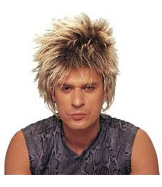 Costume Culture by Franco American Short Rocker Wig - Unisex Mixed Blonde