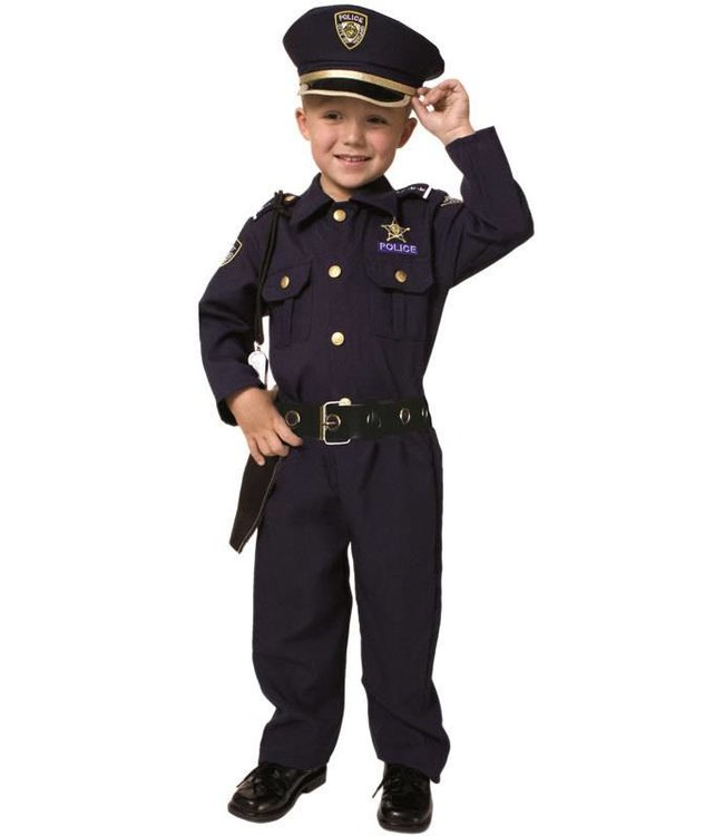 Dress Up America Tot/Child Police Officer Large 12-14