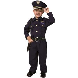 Dress Up America Tot/Child Police Officer Small 4-6