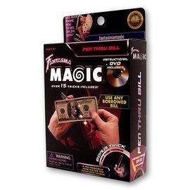 Pen Through Bill w/DVD by Magick Balay from Fantasma Toys (M10)