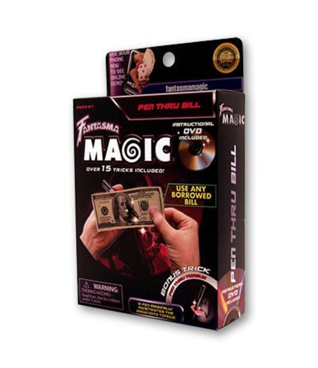Pen Through Bill w/DVD by Magick Balay from Fantasma Toys (M10)