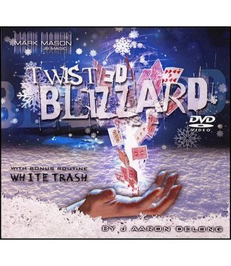 Twisted Blizzard by J. Aaron Delong  - Deck and DVD and JB Magic