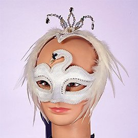 Forum Novelties Venetian White Swan Mask