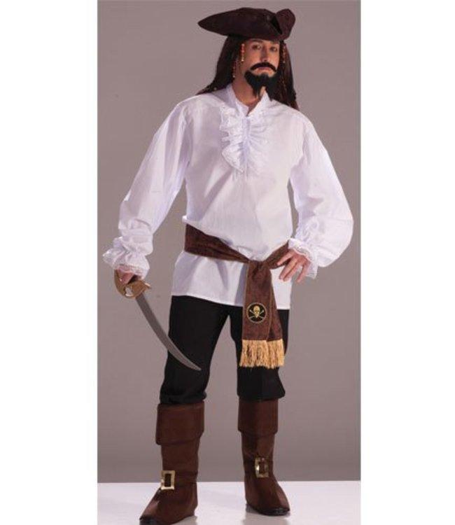 Forum Novelties Ruffled Shirt, White - Adult One Size 42