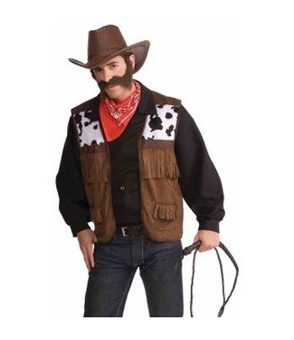 Forum Novelties Cowboy Vest, Adult One Size 42