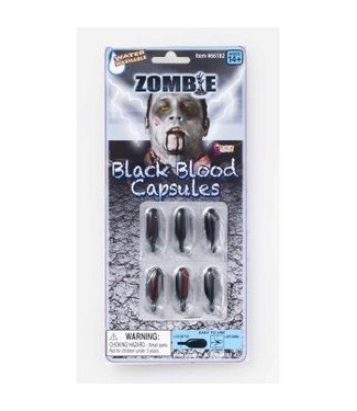 Forum Novelties Blood Capsules, Black - Zombie