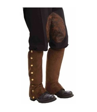 Forum Novelties Steampunk Spats - Brown Suede