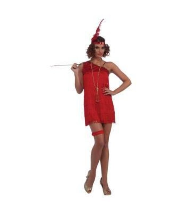 Forum Novelties Ruby Dazzle Flapper - Red Adult 14-16
