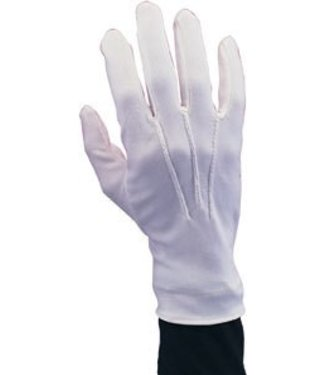 Rubies Costume Company White Gloves Nylon Wrist