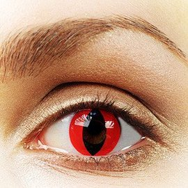 Fine And Clear Red Cat Contact Lenses