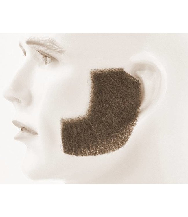 Morris Costumes and Lacey Fashions Sideburns - Synthetic, Brown