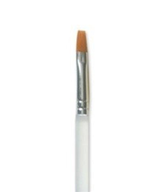Mehron Paradise AQ Brush 812 1/8 Flat Versatile