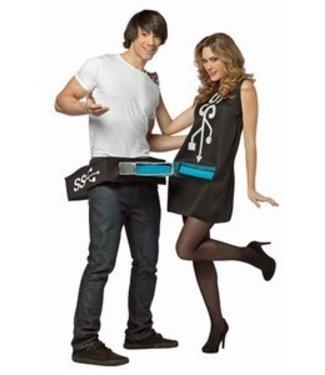 Rasta Imposta USB Port and Stick Costume Set - Adult One Size