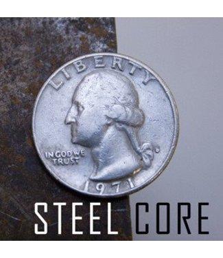 Coin Steel Core, Quarter from Chazpro Magic