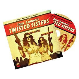 Card - Twisted Sisters 2.0, DVD and Gimmick, Bicycle Back by John Bannon (M10)ycle Back by John Bannon (M10)