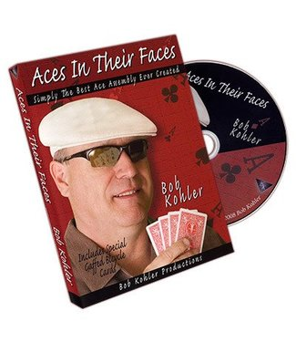 Aces In Their Faces, DVD w/Cards by Bob Kohler (M10)