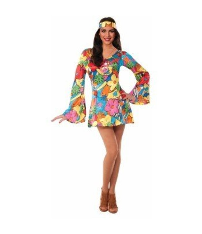 Forum Novelties Groovy Go Go Dress - Adult Med/Lrg