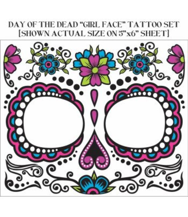 Forum Novelties Tattoo - Day Of The Dead Female Face