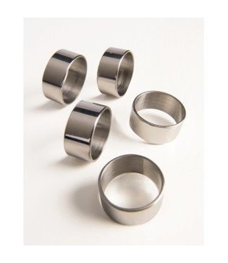 Forum Novelties Ring, Silver Futuristic -  5 PC.