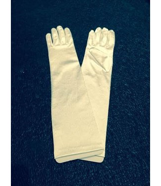 Gloves White Elbow Length Satin by Beyco