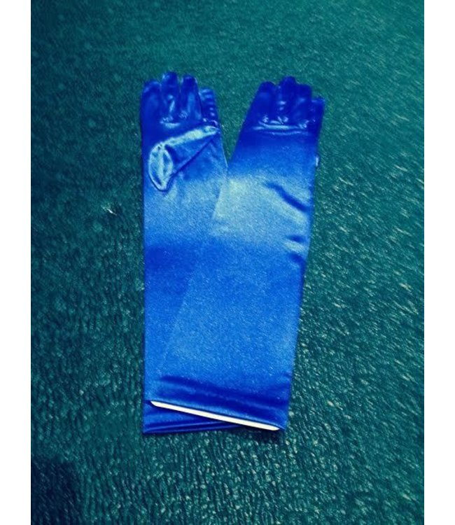 Gloves Blue Elbow Length Satin by Beyco