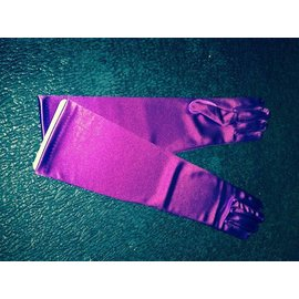 Gloves Purple Elbow Length Satin by Beyco