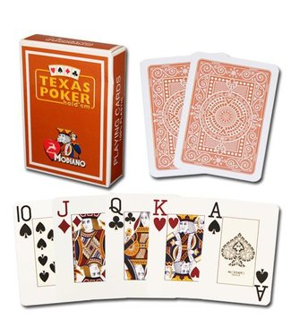 Modiano Texas Poker Jumbo, Brown by Modiano