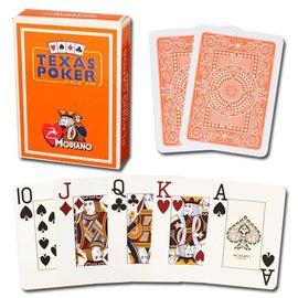 Modiano Texas Poker Jumbo, Orange by Modiano
