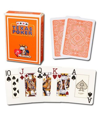 Modiano Texas Poker Jumbo, Orange by Modiano