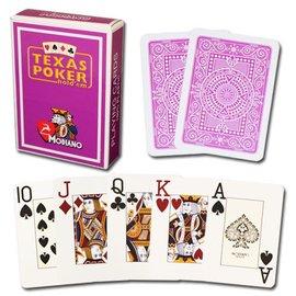 Modiano Texas Poker Jumbo, Purple by Modiano
